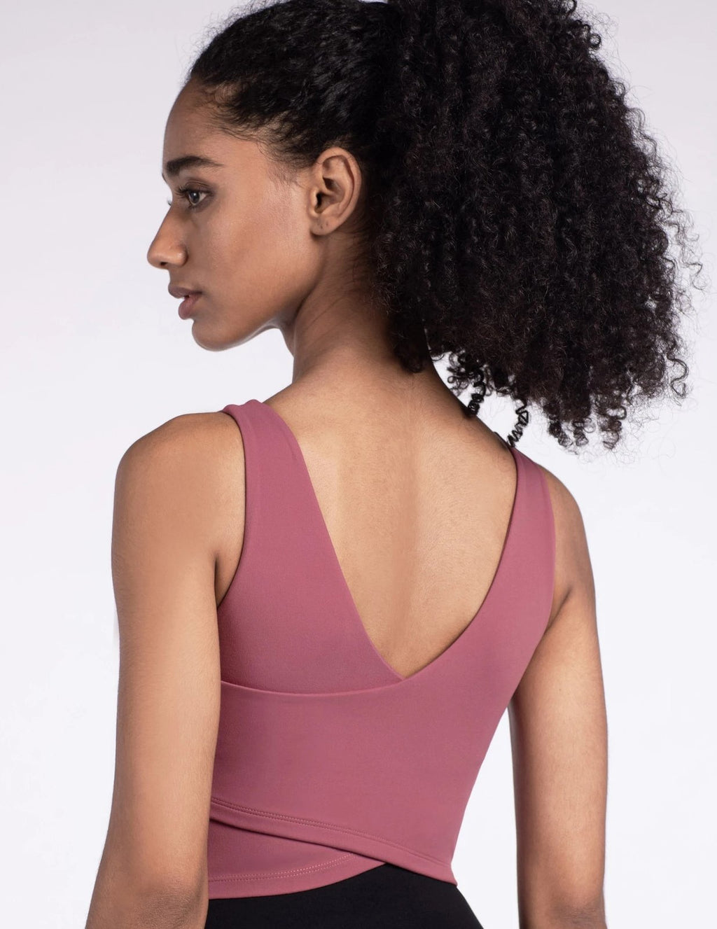 Astoria LUXE Sports Crop - Rose
