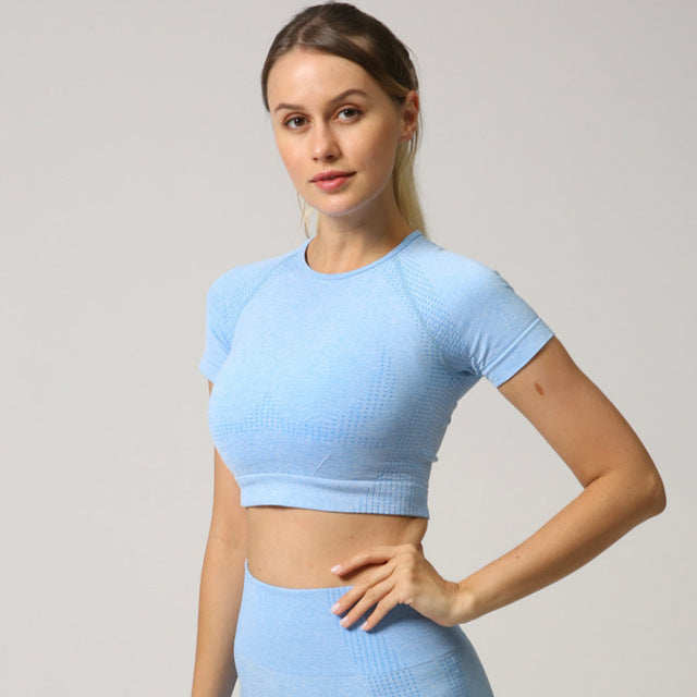 Astoria VELOCITY Cropped Tee - Baby Blue