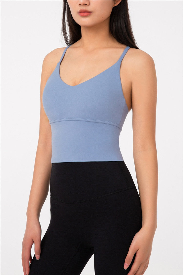 Astoria LUXE LEGACY Sports Crop - Neutral Blue