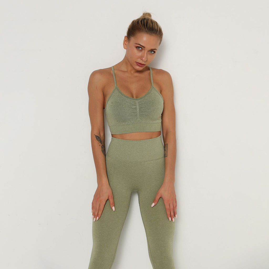Astoria TEMPO Contour Sports Crop - Army Green