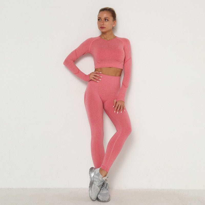Astoria TEMPO Contour Sleeved Crop - Watermelon Pink