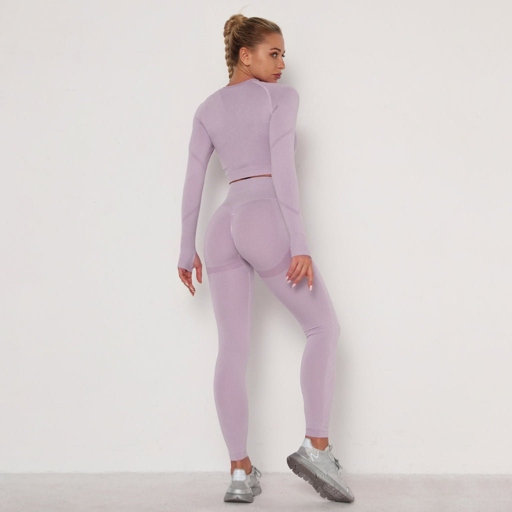 Astoria TEMPO Contour Sleeved Crop - Faded Lavender