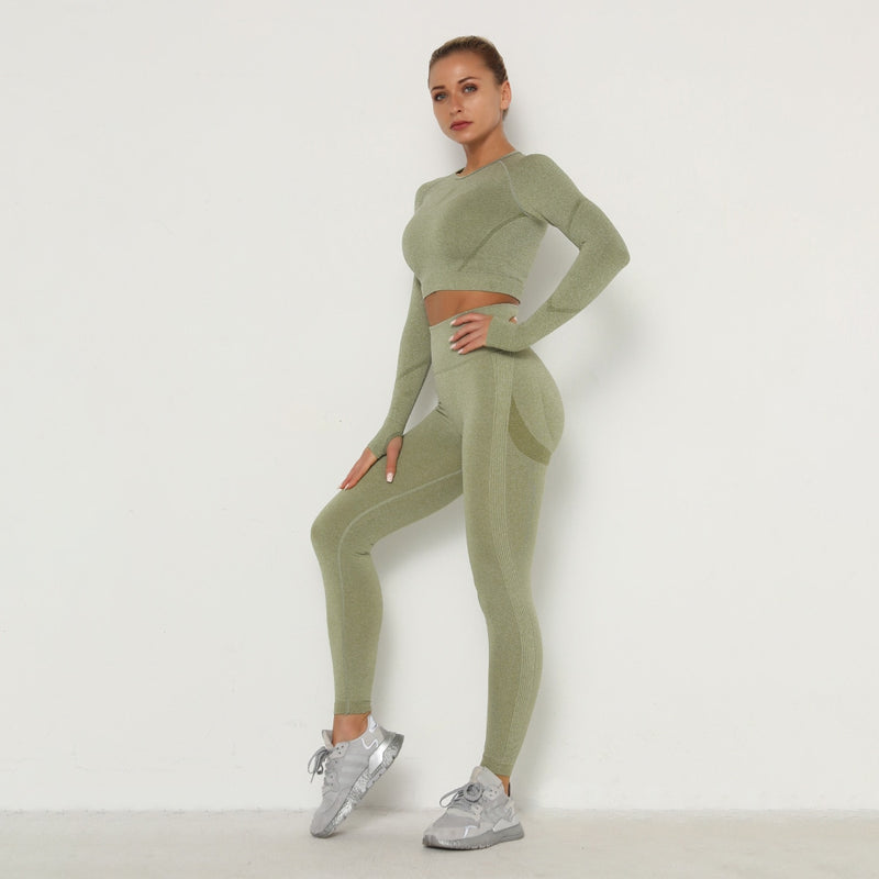 Astoria TEMPO Contour Sleeved Crop - Army Green