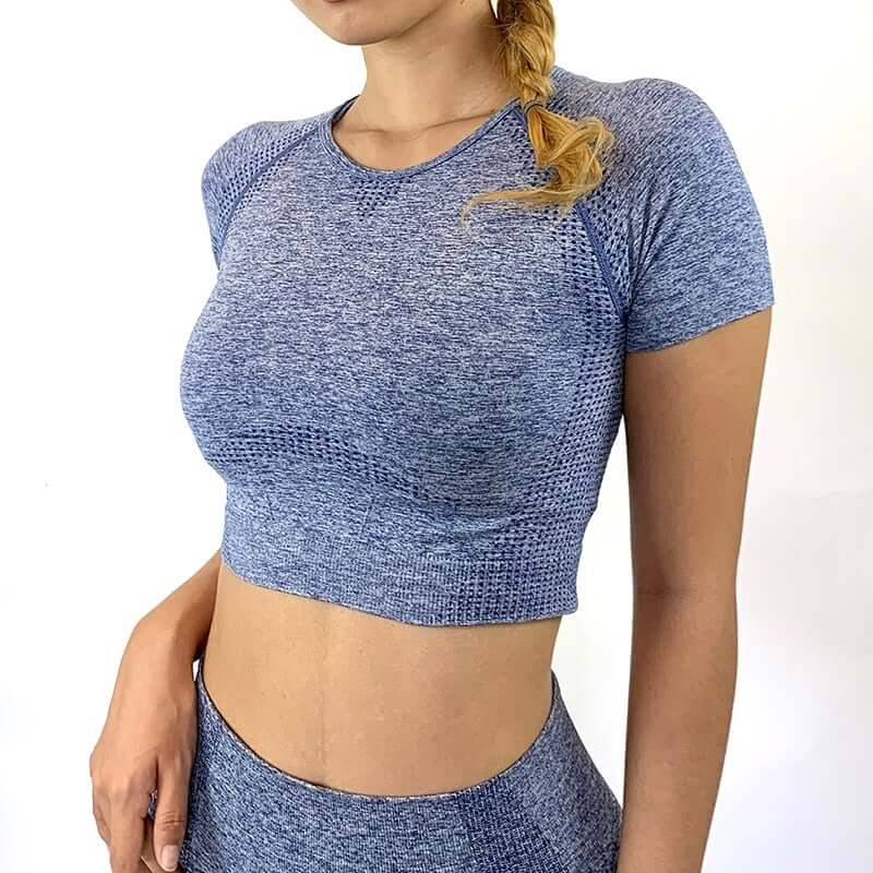 Astoria CORE Cropped Tee - Blue
