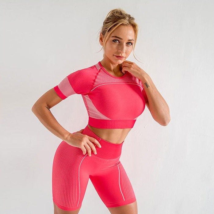 Astoria FORCE Sports Crop - Hot Pink