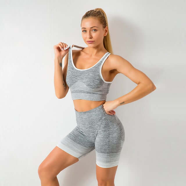 Astoria ENERGY Sports Crop - Grey/White