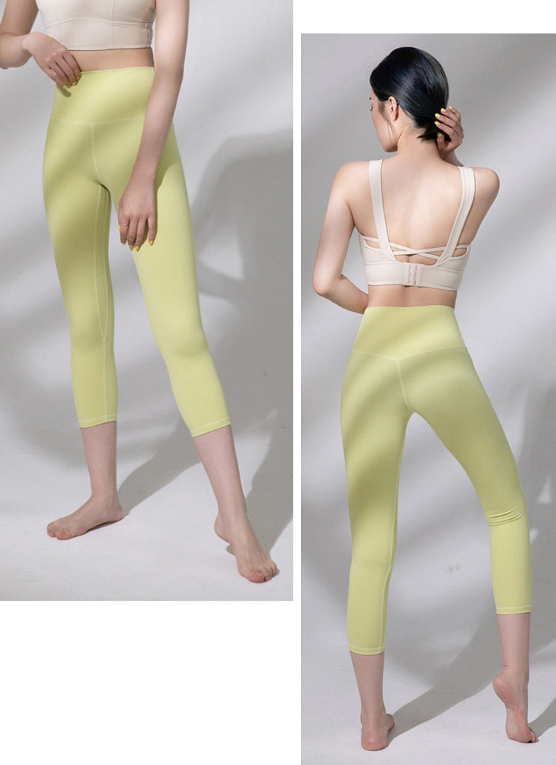 Astoria LUXE Max Support 3/4 Legging - Light Yellow