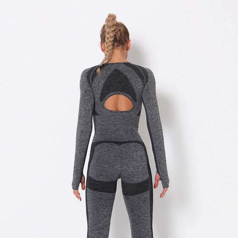 Astoria PURPOSE Sleeved Crop - Dark Grey