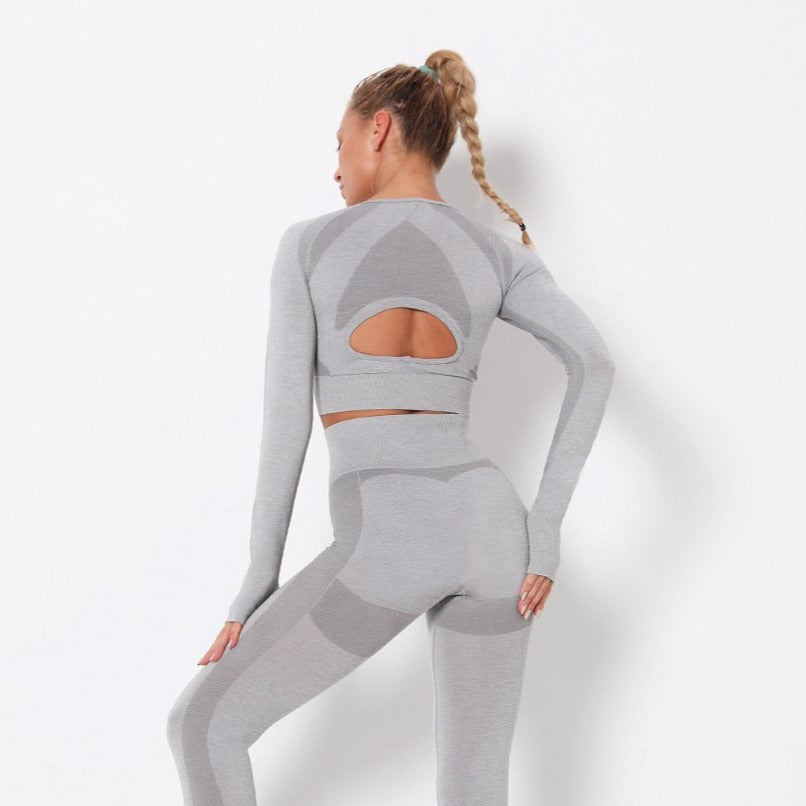 Astoria PURPOSE Sleeved Crop - Light Grey