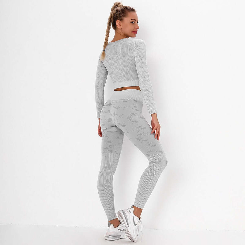 Astoria FLEX Sleeved Crop - Grey