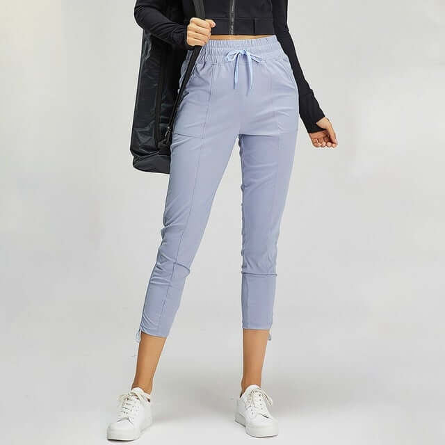 Astoria Essential Crop Jogger - Grey Blue