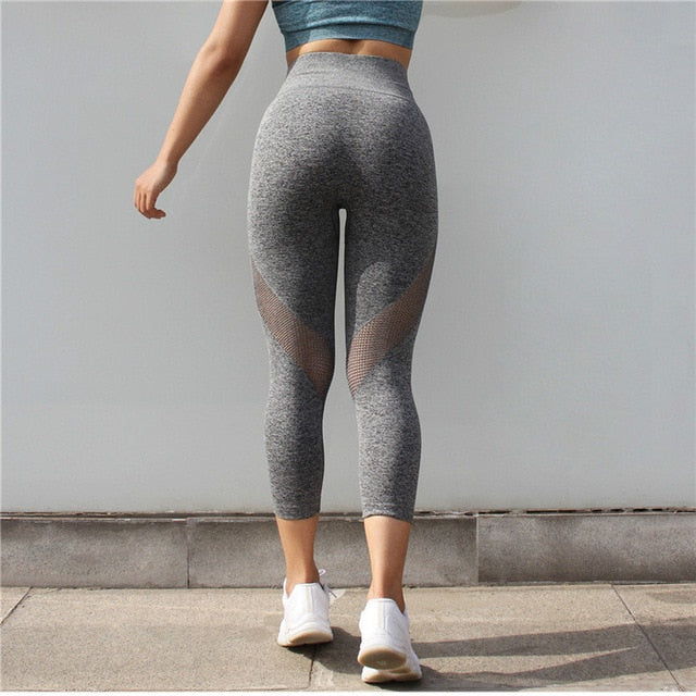 Astoria Seamless Mesh 3/4 Legging - Grey