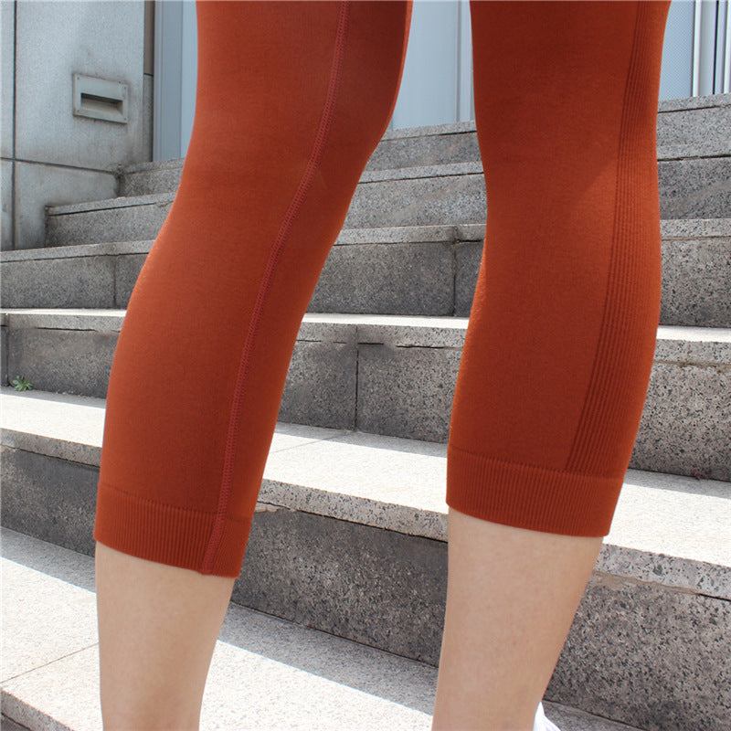 Astoria Seamless 3/4 Legging - Burnt Orange