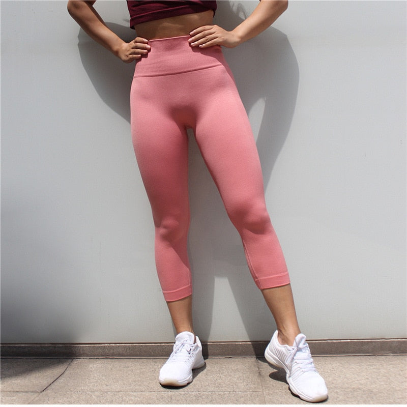 Astoria Seamless 3/4 Legging - Pink