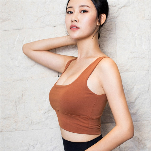 Astoria LUXE Scoop Sports Crop - Burnt Orange