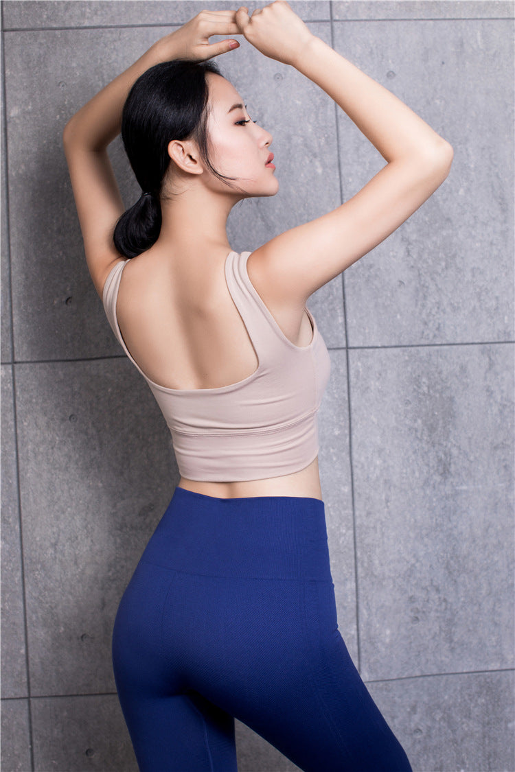 Astoria LUXE Scoop Sports Crop - Apricot