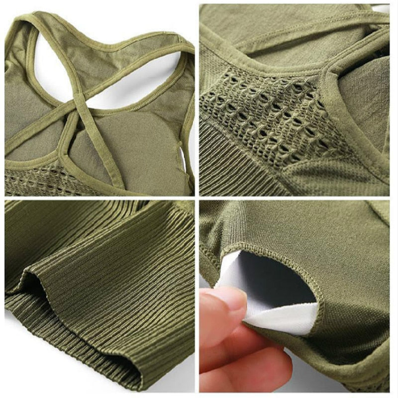Astoria Seamless Sports Bra - Army Green