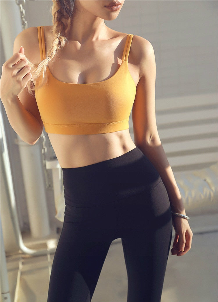 Astoria Seamless Support Sports Bra - Sunshine Yellow