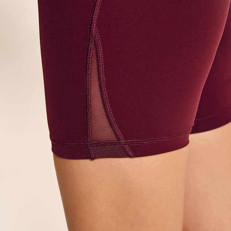 Astoria LUXE Mesh Mid Length Short - Ruby