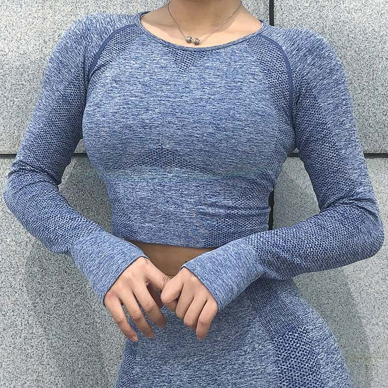 Astoria CORE Sleeved Crop - Blue