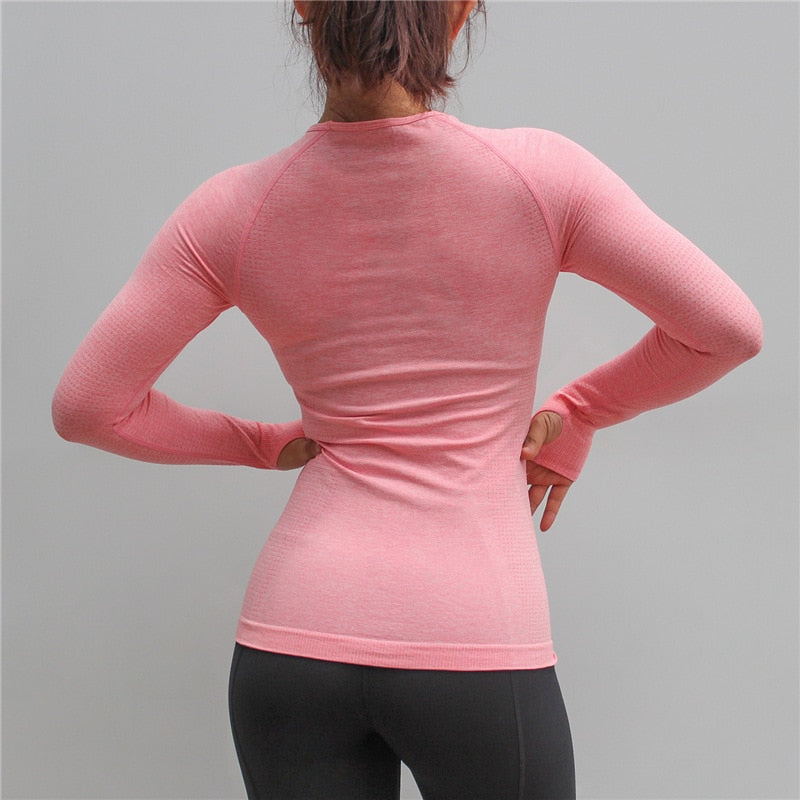 Astoria Seamless Full Length Sleeved Top - Pink