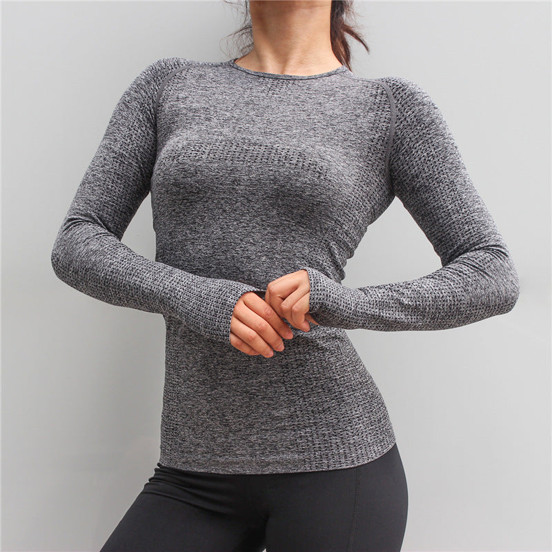 Astoria Seamless Full Length Sleeved Top - Grey