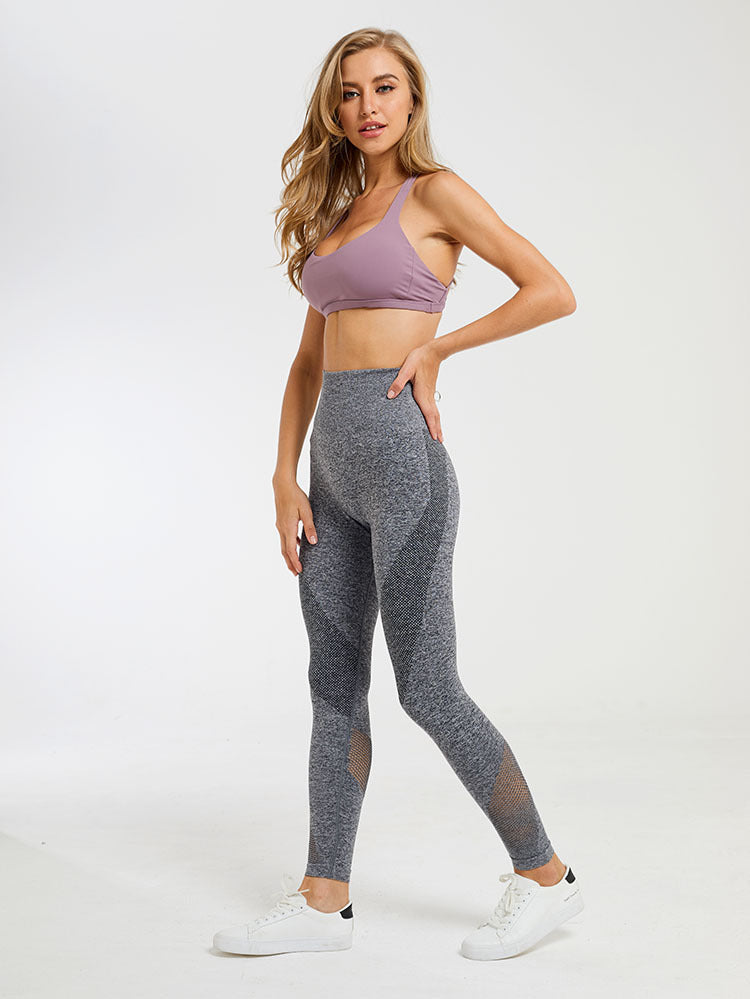 Astoria Seamless Mesh Full Length Legging - Grey