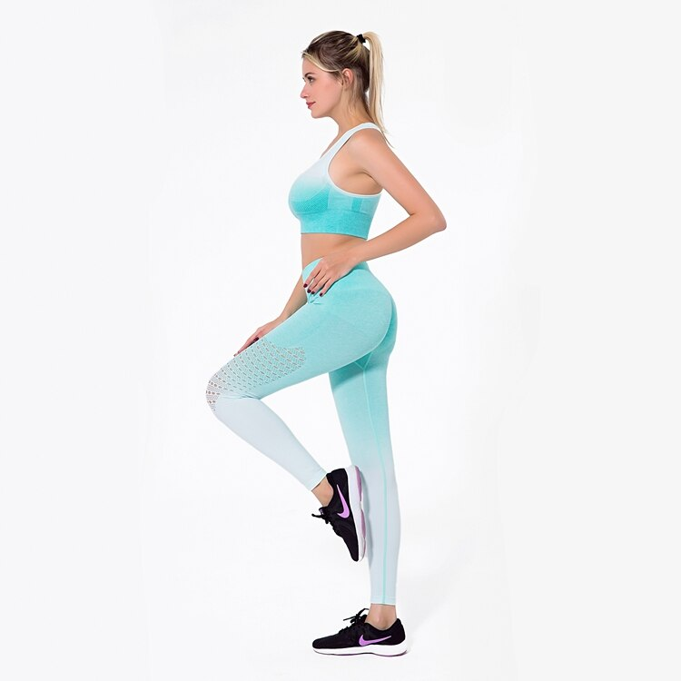 Astoria Seamless Ombre Legging - Aqua
