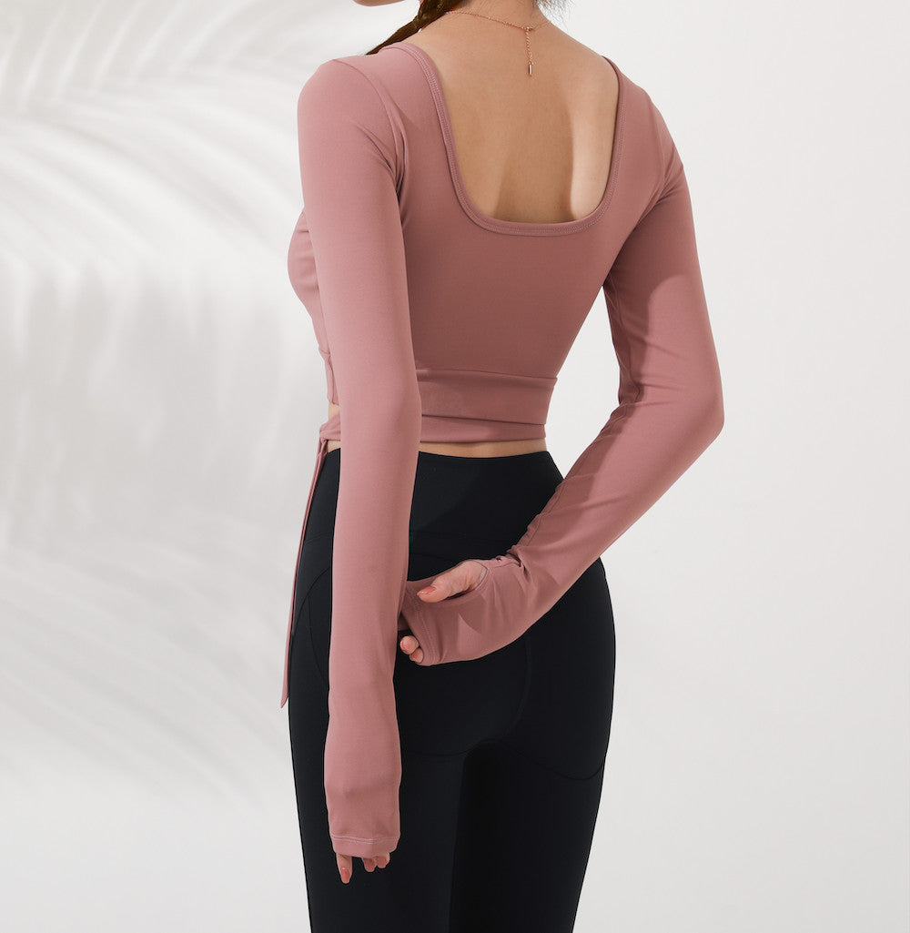 Astoria LUXE Bow Sports Crop - Dust Pink