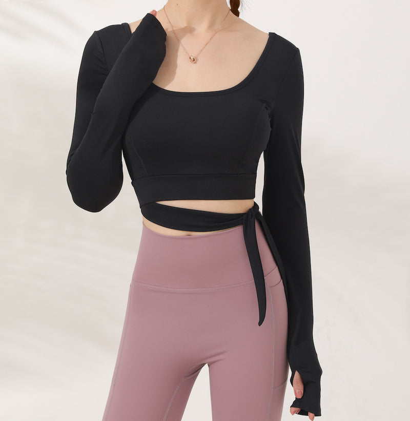 Astoria LUXE Bow Sports Crop - Black