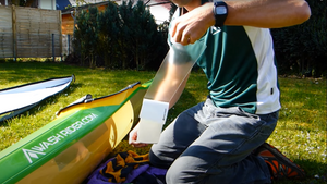 How to protect your surfski rails or kayak deck from paddle scuffs