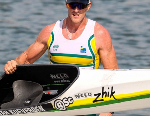 Ken Wallace with his Nelo Kayaks rotating seat