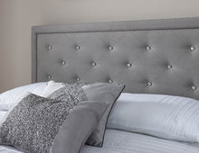 Load image into Gallery viewer, GFW Hollywood Stone Grey Fabric Ottoman Bed
