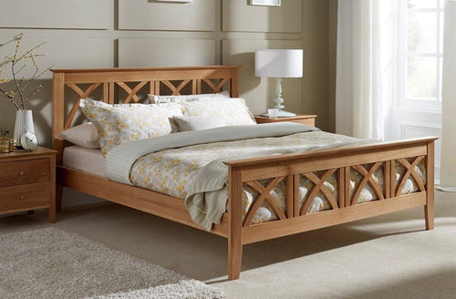 Serene Maiden Oak Bed Frame