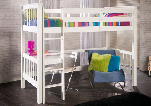 Limelight Pavo White Wooden Study Bunk