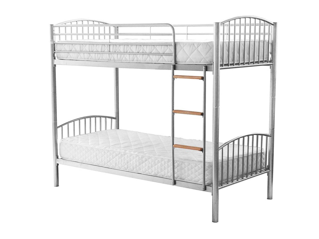 Montreal Silver Metal Bunk Bed