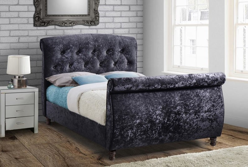 Birlea Toulouse Black Kingsize Sleigh Bed Doyles Beds