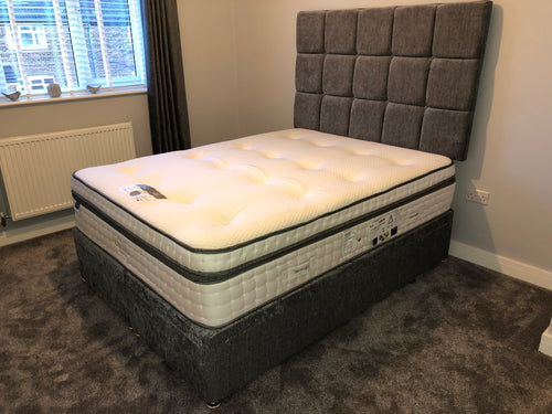 Silent Night 3000 Pocket Geltex Mattress End Opening Ottoman Divan & Headboard