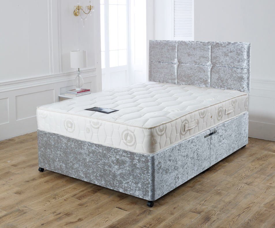 Crushed Velvet Bolero Divan Bed