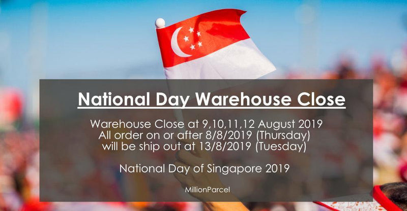 National Day of Singapore 2019 - MillionParcel