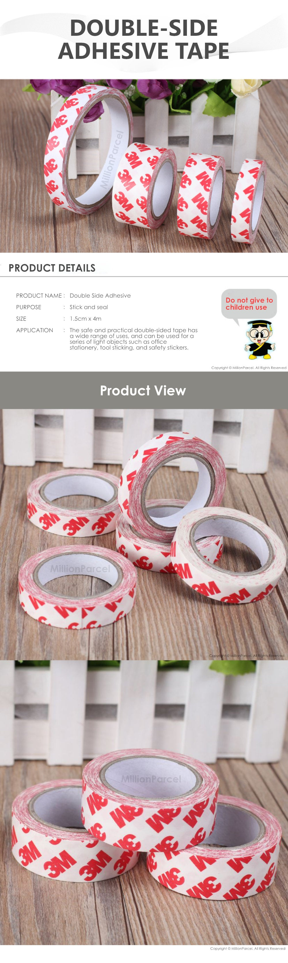 Double Side Adhesive Tape - MillionParcel