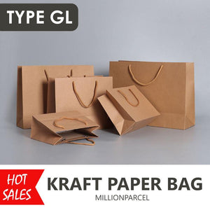 Brown Kraft Paper Bags-Packaging Materials-MillionParcel