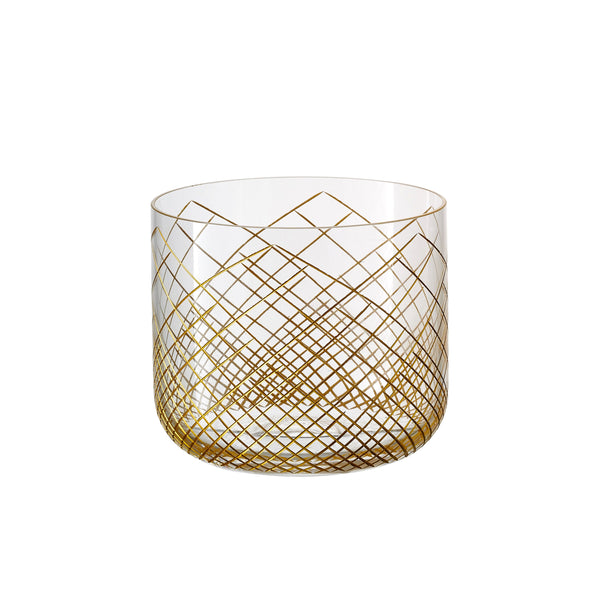 Omnia Ratio Golden 2 Whiskey Glasses ( Set of 6)