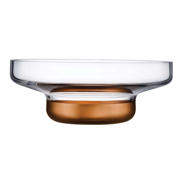 Nude Contour Bowl Wide with Clear Top and Copper Base