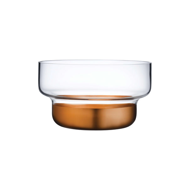 Nude Contour Bowl Small with Clear Top and Copper Base