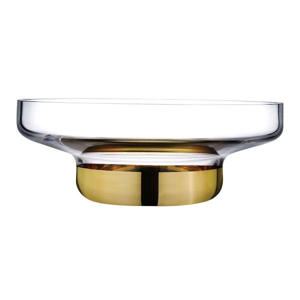 Nude Contour Bowl Wide with Clear Top and Golden Base