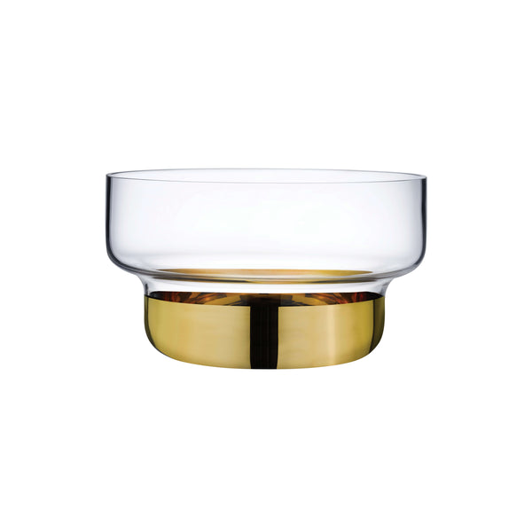 Nude Contour Bowl Small with Clear Top and Golden Base