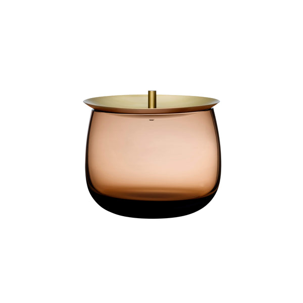 Nude Beret Storage Box with Brass Lid