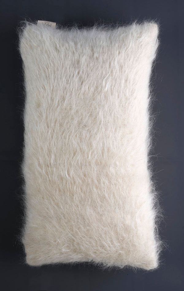 MUNA Cushions of Mohair of Angora 100% hand-made - White