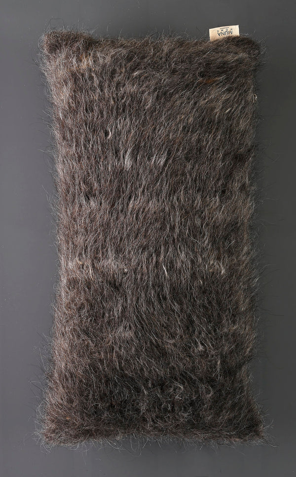 MUNA Cushions of Mohair of Angora 100% hand-made - Gray